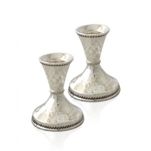 Irit Sterling Silver Mini Candlesticks - Baltinester Jewelry
