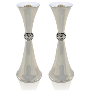 Ziva Sterling Silver Candlesticks - Baltinester Jewelry