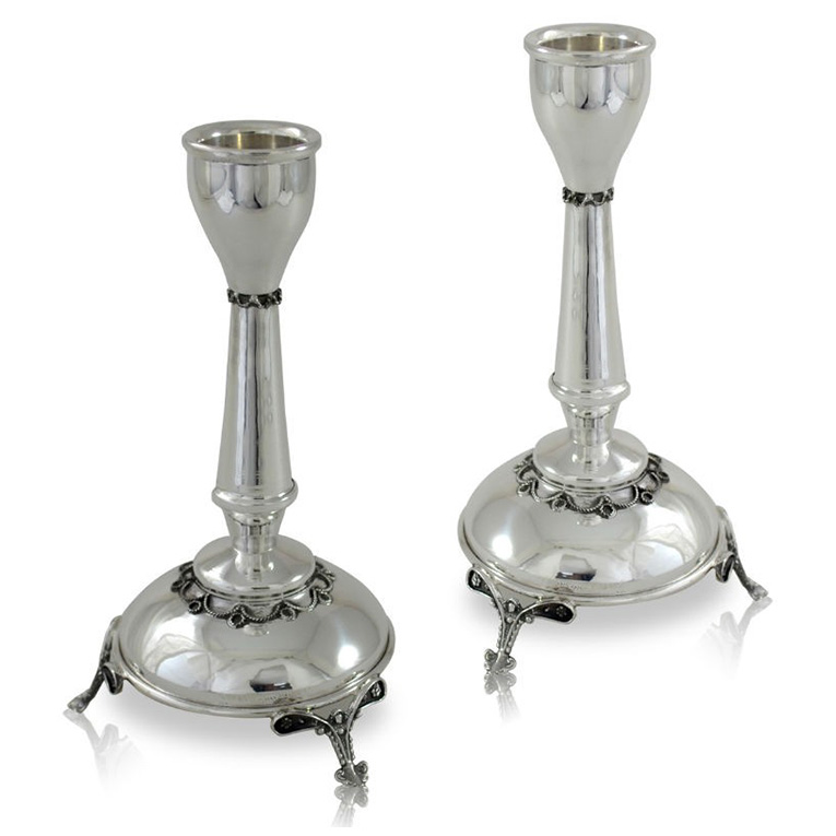 Chaya Sterling Silver Candlesticks - Baltinester Jewelry