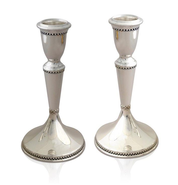 Malka Sterling Silver Candlesticks - Baltinester Jewelry