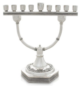 Two-In-One Sterling Silver Menorah Candelabra - Baltinester Jewelry