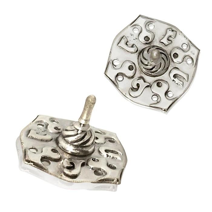 Orna Hanukkah Sterling Silver Dreidel - Baltinester Jewelry