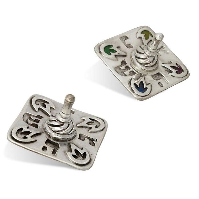 Oxidized Sterling Silver Dreidel - Baltinester Jewelry