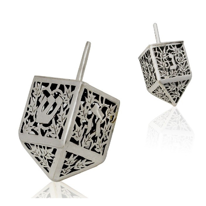 Orly Hanukkah Sterling Silver Dreidel - Baltinester Jewelry