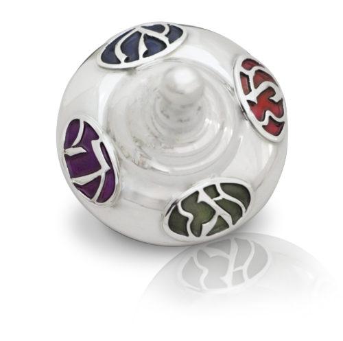 Efrat Sterling Silver Hanukkah Dreidel 2 - Baltinester Jewelry