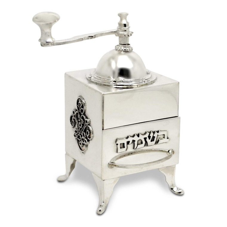 Sterling Silver Coffee Grinder Spice Box - Baltinester Jewelry