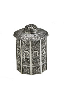 Column Sterling Silver Tzedakah Box - Baltinester Jewelry