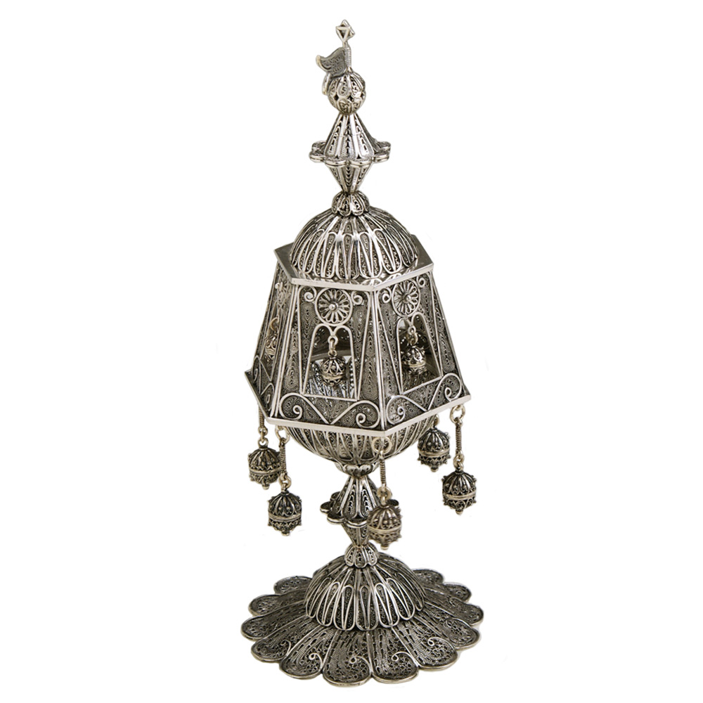 Traditional Sterling Silver Besamim for Havdala - Baltinester Jewelry