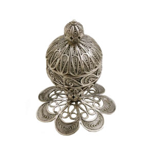 Short Sterling Silver Besamim for Havdala - Baltinester Jewelry