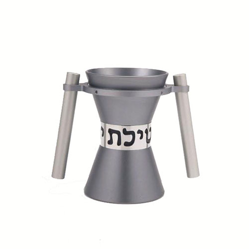 Large Contemporary Washing Cup - Gray - Baltinester Jewelry