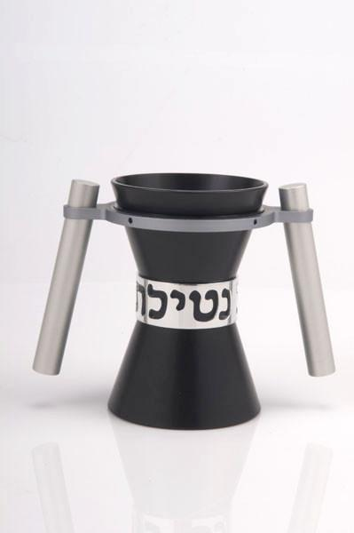 Large Contemporary Washing Cup - Black - Baltinester Jewelry