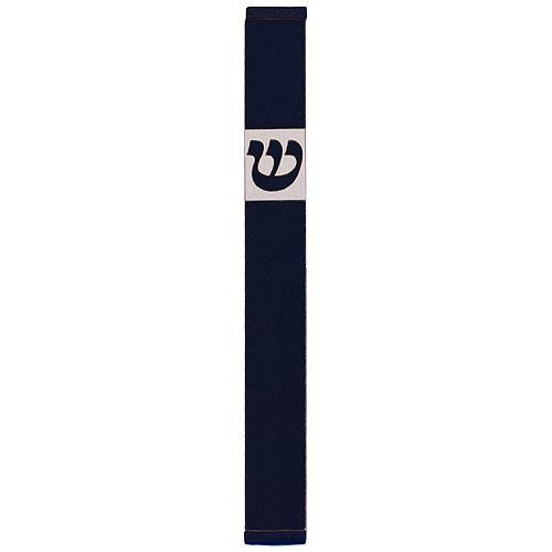 Traditional Rectangle Shin Mezuzah (Small) - Black - Baltinester Jewelry