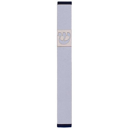 Traditional Rectangle Shin Mezuzah (Large) - Silver - Baltinester Jewelry
