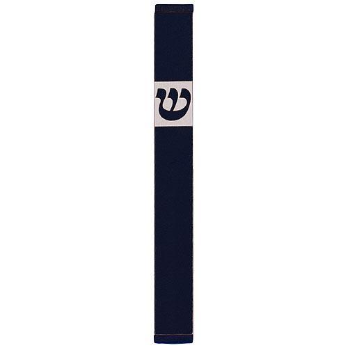 Traditional Rectangle Shin Mezuzah (XL) - Black - Baltinester Jewelry