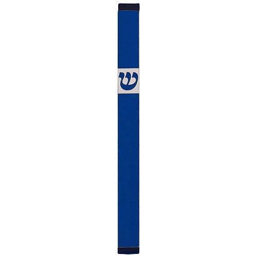 Traditional Rectangle Shin Mezuzah (XL) - Blue - Baltinester Jewelry