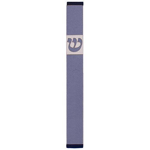 Traditional Rectangle Shin Mezuzah (XL) - Gray - Baltinester Jewelry
