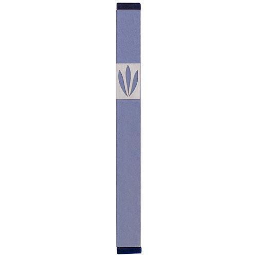 Shin Mezuzah With Leaves Design (Medium) - Gray - Baltinester Jewelry