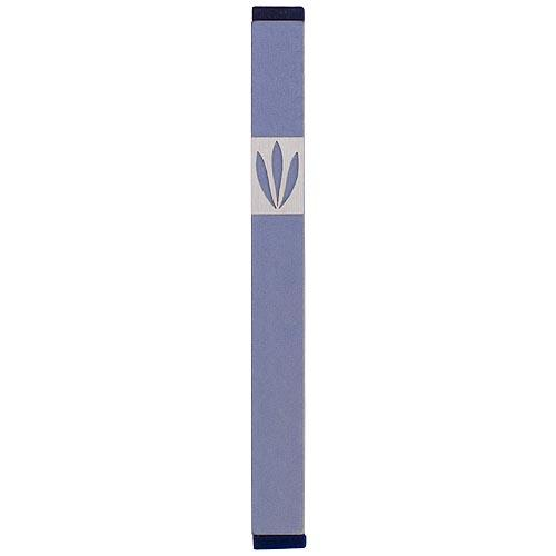 Shin Mezuzah With Leaves Design (Large) - Gray - Baltinester Jewelry
