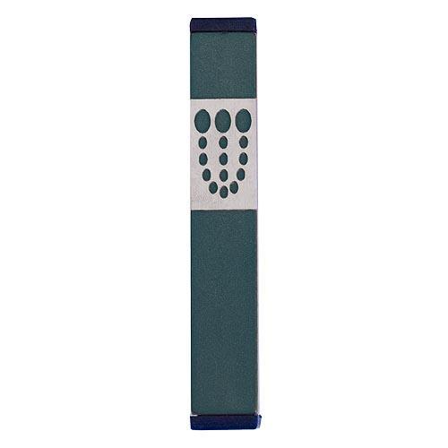 Mezuzah Dots Shin (Small) - Green - Baltinester Jewelry