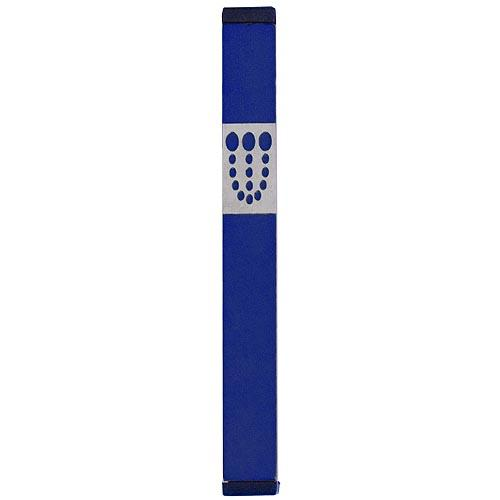Mezuzah Dots Shin (Large) - Blue - Baltinester Jewelry