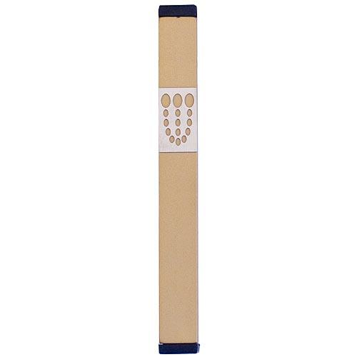 Mezuzah Dots Shin (Large) - Gold - Baltinester Jewelry