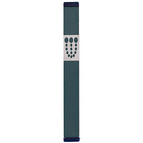 Mezuzah Dots Shin (Large) - Green - Baltinester Jewelry