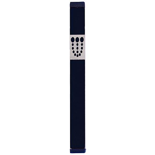 Mezuzah Dots Shin (XL) - Black - Baltinester Jewelry