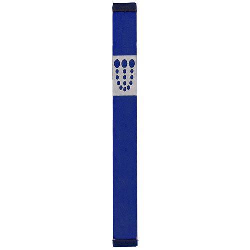 Mezuzah Dots Shin (XL) - Blue - Baltinester Jewelry