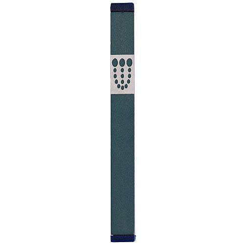 Mezuzah Dots Shin (XL) - Green - Baltinester Jewelry