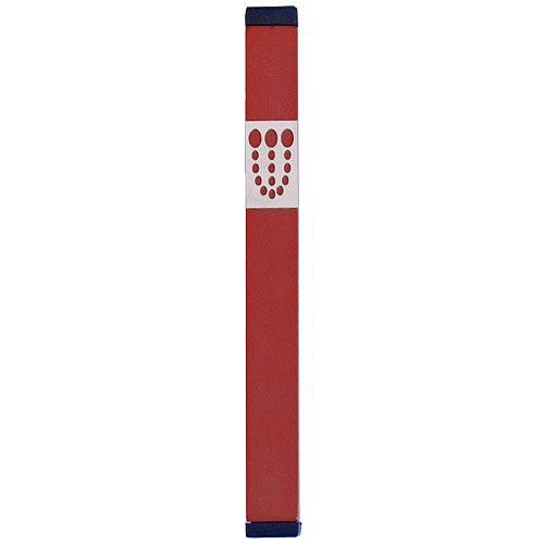 Mezuzah Dots Shin (XL) - Red - Baltinester Jewelry