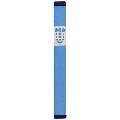 Mezuzah Dots Shin (XL) - Teal - Baltinester Jewelry