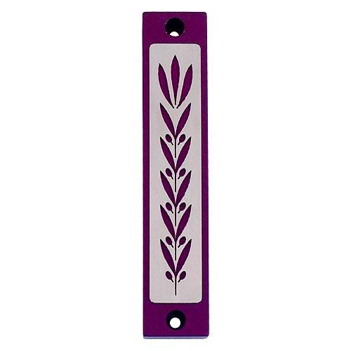 Wheat Prosperity Mezuzah - Purple - Baltinester Jewelry