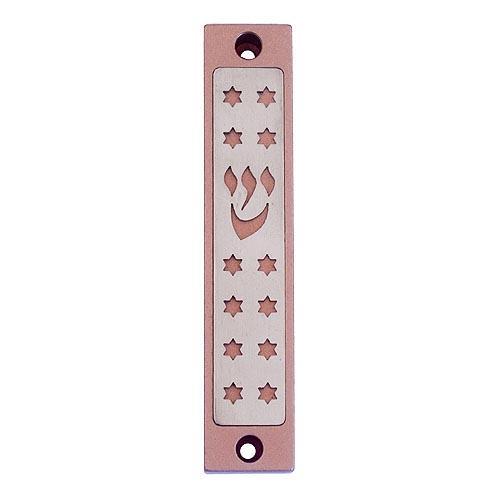 Twelve Tribes Stars Mezuzah - Pink - Baltinester Jewelry