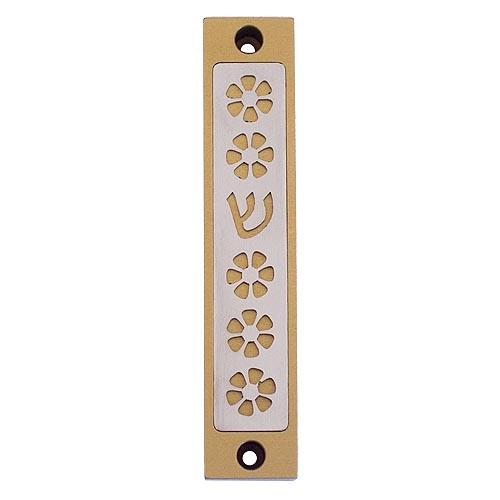 Flower Mezuzah - Gold - Baltinester Jewelry