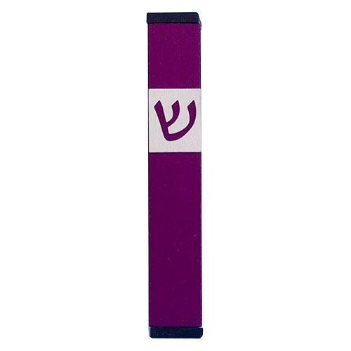 Classic Shin Mezuzah (Small) - Purple - Baltinester Jewelry