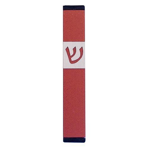 Classic Shin Mezuzah (Small) - Red - Baltinester Jewelry