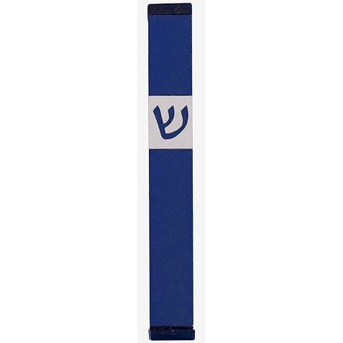 Classic Shin Mezuzah (Medium) - Blue - Baltinester Jewelry