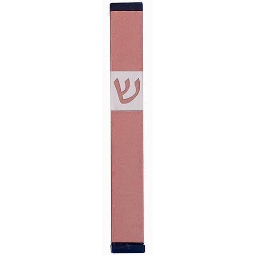 Classic Shin Mezuzah (Medium) - Pink - Baltinester Jewelry