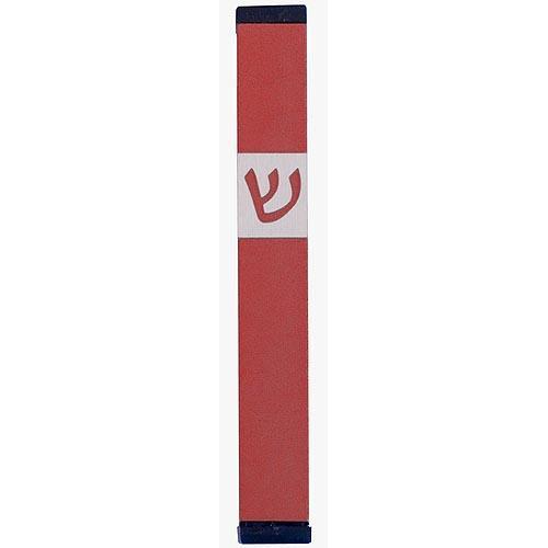 Classic Shin Mezuzah (Medium) - Red - Baltinester Jewelry