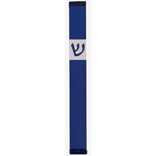Classic Shin Mezuzah (Large) - Blue - Baltinester Jewelry