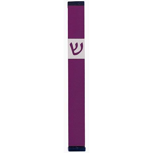 Classic Shin Mezuzah (Large) - Purple - Baltinester Jewelry