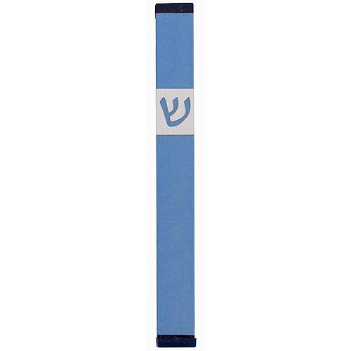 Classic Shin Mezuzah (Large) - Teal - Baltinester Jewelry