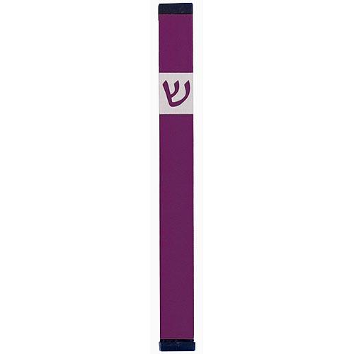 Classic Shin Mezuzah (XL) - Purple - Baltinester Jewelry