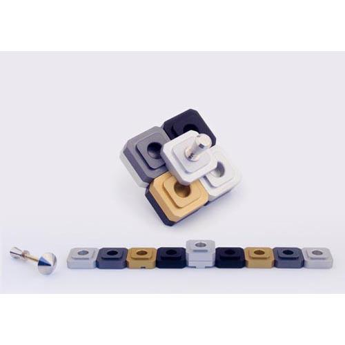 Dreidel Design Menorah for Travel - Gold - Baltinester Jewelry