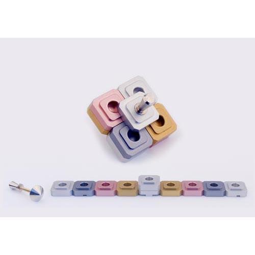 Dreidel Design Menorah for Travel - Pink - Baltinester Jewelry