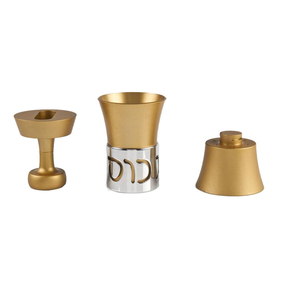 Minimalist Havdalah Set for Travel - Gold - Baltinester Jewelry