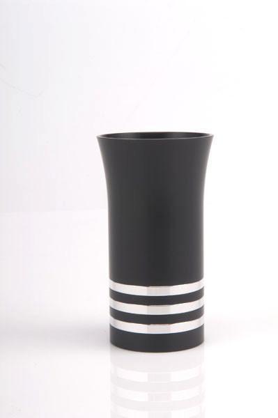 Modern Colorful Kiddush Cup - Black - Baltinester Jewelry