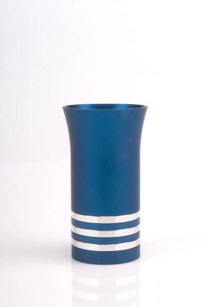Modern Colorful Kiddush Cup - Blue - Baltinester Jewelry
