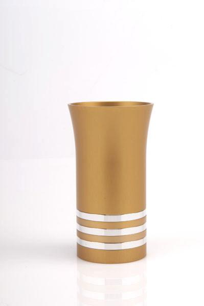 Modern Colorful Kiddush Cup - Gold - Baltinester Jewelry