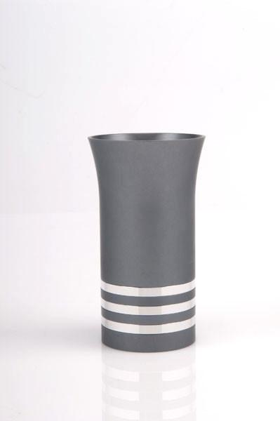 Modern Colorful Kiddush Cup - Gray - Baltinester Jewelry